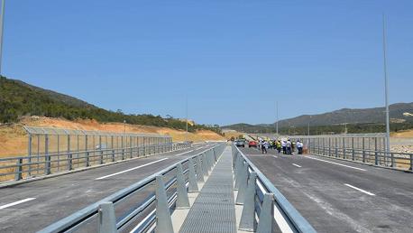افتتاح الجزء الثاني من مشروع وصلة برج السدرية في اتجاه العودة من تونس العاصمة أمام الجولان