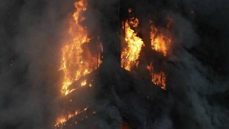 جبل الوسط: حريق هائل بمصنع نجارة يأتى على كامل محتوياته