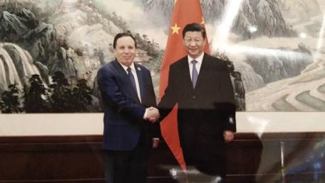 الجهيناوي و الرئيس الصّيني شي جينبينغ