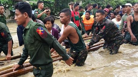 انهيار سد في ميانمار يشرّد 63 ألف شخص