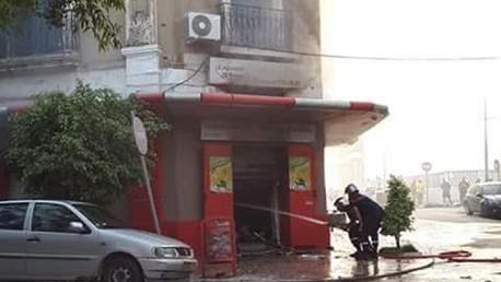 بنزرت : إندلاع حريق هائل بمغازة لبيع المواد الغذائية