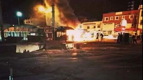 حي الانطلاقة : غلق الطريق احتجاجا على إيقاف بائع خمر خلسة