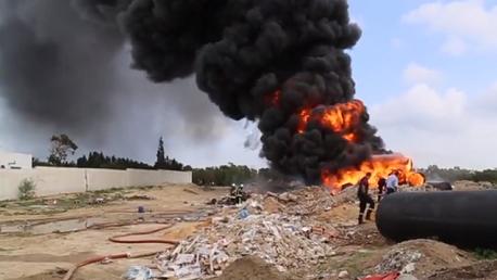سوسة : حريق قرب محطة التطهير بسيدي عبد الحميد