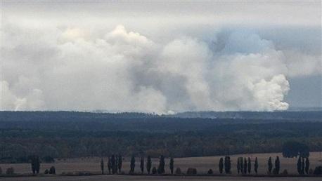 انفجار في مستودع عسكري في منطقة تشيرنيغوف الأوكرانية