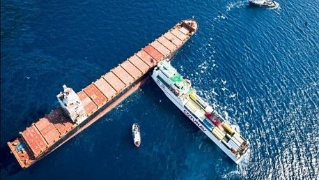 اصطدام سفينة اوليس بالسفينة القبرصية