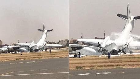 إغلاق مطار الخرطوم بعد اصطدام طائرتين عسكريتين