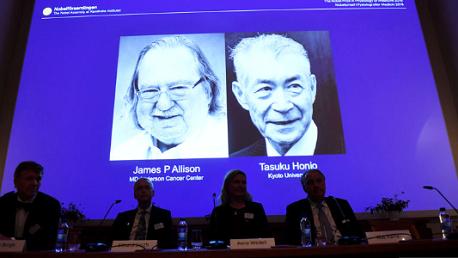 الأمريكي جيمس أليسون والياباني تاسوكو هونجو