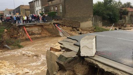 فيضانات جنوب فرنسا