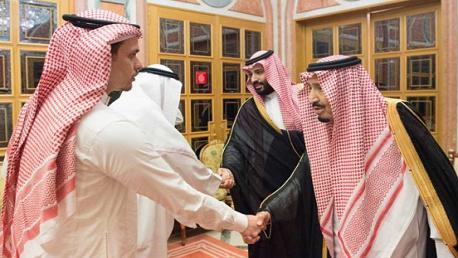 : العاهل السعودي وولي العهد يستقبلان نجل جمال خاشقجي