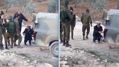 التحقيق مع قائد بالشرطة الفلسطينية لتغييره إطار عربة للجيش الإسرائيلي
