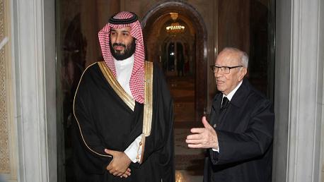 لقاء على انفراد بين رئيس الجمهورية وولي العهد السعودي