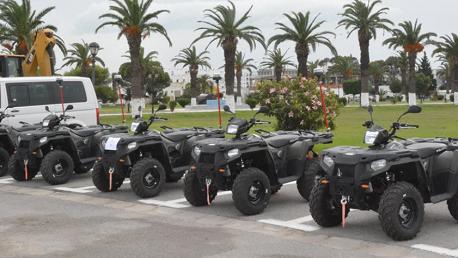 الحرس الوطني / موكب رسمي لتسلم تجهيزات ومعدات أمنية ألمانية