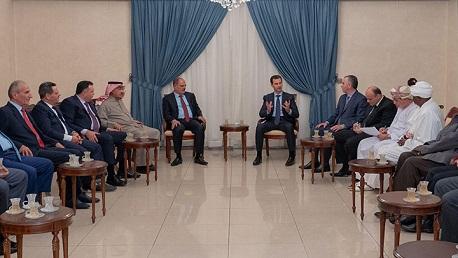 ناجي البغوري يلتقي بشار الأسد