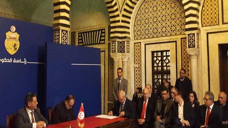 فعاليات توقيع الاتفاقية الاطارية المشتركة الخاصة بللصحفيين