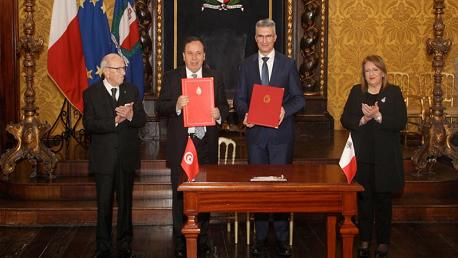 بإشراف السبسي: توقيع اتفاقية و3 برامج تعاون بين تونس ومالطا