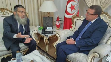 وزير الشؤون الدينية يستقبل كبير أحبار اليهود بتونس