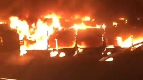 احتراق حافلة بالكامل في حق فطومة بورقيبة بالعاصمة