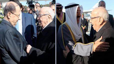 رئيس الجمهورية يستقبل رؤساء الوفود المشاركة في القمة العربية بتونس