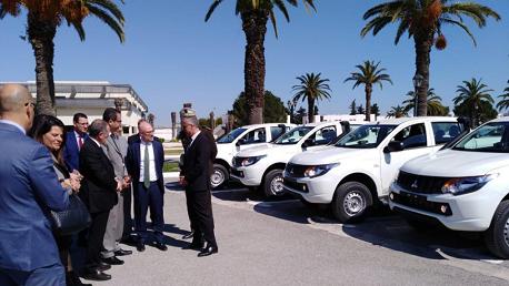 الحرس الوطني يتسلّم 50 سيارة رباعية الدفع كهبة إيطالية