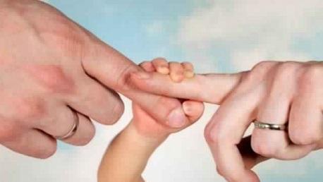 يد الأب والأم