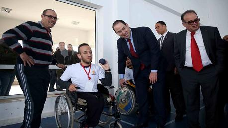 """رئيس الحكومة يوسف الشاهد يشرف صباح اليوم بالمركز الدولي للبحوث والدراسات والتوثيق والتكوين حول الإعاقة """"بسمة"""" بقمرت"""