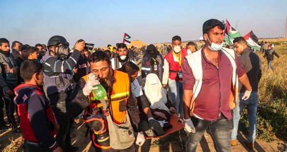 شهيدان و55 مصابًا عند الحدود الشرقية لقطاع غزة