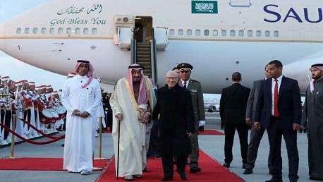 رئيس الجمهورية يستقبل الملك سلمان