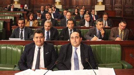 وزير النقل هشام بن احمد بمعية كاتب الدولة لدى وزير النقل عادل الجربوعي