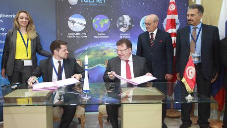 """التوقيع على اتفاق اطلاق اول قمر صناعي تونسي من انجاز مجموعة """"تالنات"""