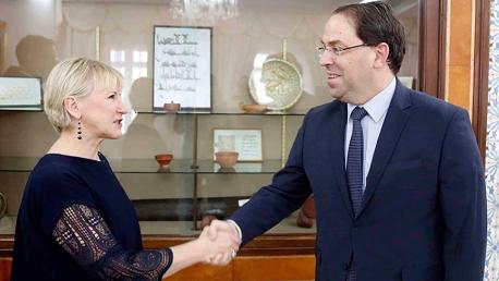 الشاهد و وزيرة الخارجية السويدية مارغوت والستروم