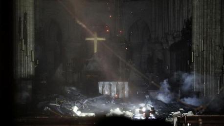 حريق بكاتدرائية نوتردام