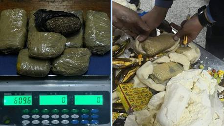 بمطار قرطاج: إحباط محاولة تهريب صفائح من مخدّر الماريخوانا