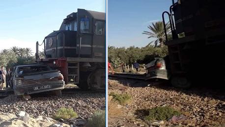 قفصة: وفاة شخصين في اصطدام قطار فسفاط بسيارة