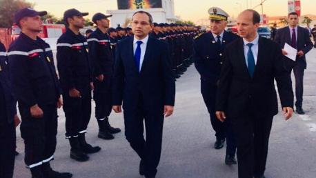 وزير الداخلية في زيارة للمدرسة الوطنية للحماية المدنية