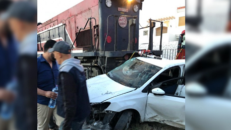 حادث اصطدام قطار نقل للمسافرين بصفاقس