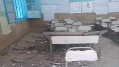 غزالة: سقوط سـقف إحدى قاعات مدرسة منجم جالطة