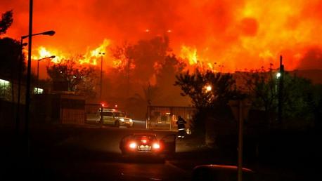 حرائق تل أبيب