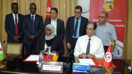 إمضاء اتفاقية تعاون بين وزارة الشؤون الاجتماعية بتونس وجيبوتي