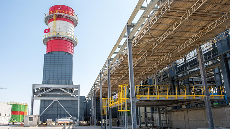 محطة توليد الكهرباء بالتوربينات الغازية ببرج العامري/ المرناقية