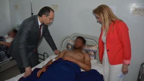 وزيرا الدّاخليّة والصّحة يزوران المصابين في العمليتين الإرهابيتين بمستشفيات العاصمة