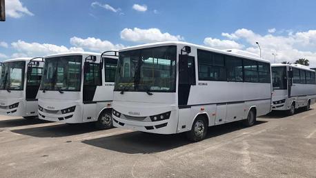 قطر توزع 9 حافلة على بلديات ولاية توزر