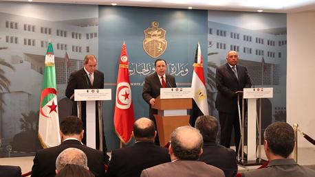 لوزراء خارجية تونس والجزائر ومصر