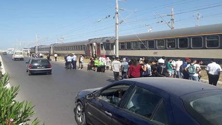 اصطدام القطار المتّجه من تونس نحو المهدية بمواطنة مترجّلة