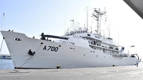 رسو سفينة البحث والتكوين التابعة للقوات البحرية التونسية بميناء الجزائر