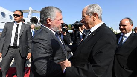 ملك الأردن في تونس لتقديم واجب العزاء في وفاة الرئيس السبسي