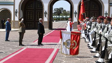 موكب تنصيب رئيس الجمهورية محمد الناصر