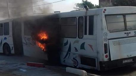 سوسة: اشتعال النيران في حافلة