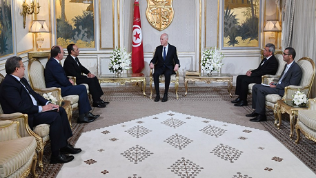 رئيس الجمهورية يلتقي رئيسَيْ مجلس النواب ومجلس المستشارين بالمغرب