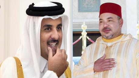 ملك المغرب وأمير قطر يُهنآن رئيس تونس الجديد