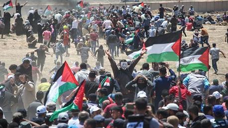 إصابة 100 فلسطيني برصاص الاحتلال شرق غزة